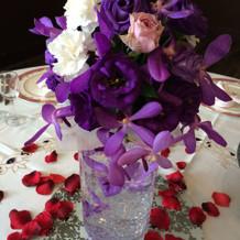 グレードアップテーブル装花
