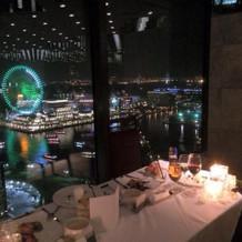 披露宴会場からの夜景