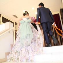 こだわったドレスとオリジナルのリボン♪