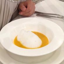 スープ(無料でかぼちゃスープに変更)