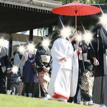 花嫁行列の写真です