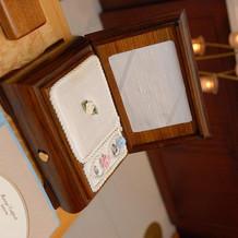 挙式の指輪交換のボックス