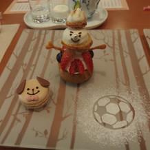 雪だるまのケーキ(試食)
