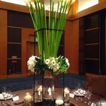 ゲストのセンターのお花サンプルです。