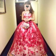 プリンセスラインカラードレス