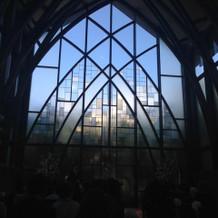 挙式会場!!すごく綺麗です(^^)