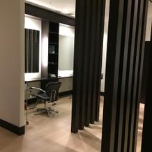 ゲストが利用できる美容の部屋