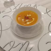 季節のスープはパンプキンでした