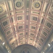 天井の柄が素敵