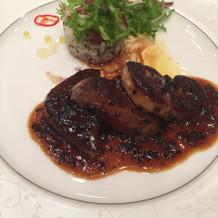 お肉とフォアグラはとろけるくらい美味しい