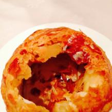 パイ包のマッシュルームスープ