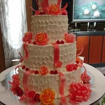 ケーキがゴージャスだった。