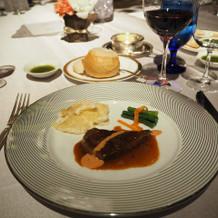 牛フィレ肉とグラタン