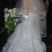 花嫁様のドレス・花がかわいい