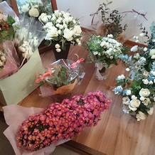 装飾に使った花です。