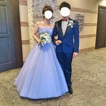 カラードレスが好評でした!