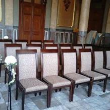 列席者の席