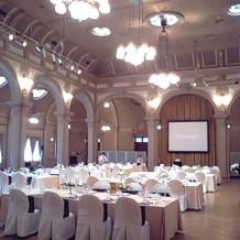 中集会室。かなりの広さ