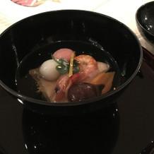 ぶりと海老のお雑煮です。