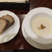 冷製スープ美味でした