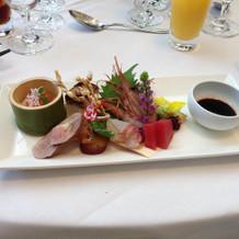 色々な海鮮のお料理