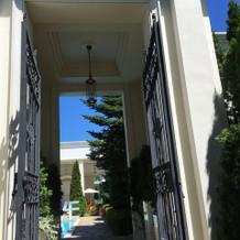 ホワイトハウスの入り口