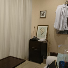 新郎新婦控室。落ち着きます。