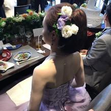 式場のドレスショップで