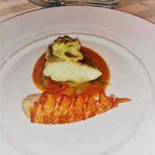 オマール海老と鯛のオーブン焼き