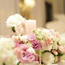 会場飾りの花