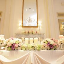 花婿花嫁席の花