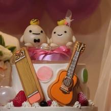 ギターと箏ケーキ