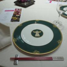 納曾利舞をデザインしたお皿でいただけます