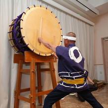 父演奏の太鼓
