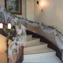3階から登場する螺旋階段
