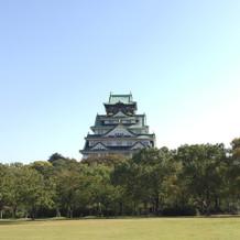迎賓館から眺める大阪城