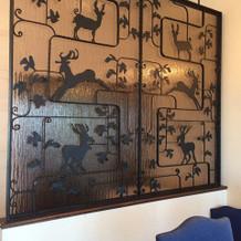 シャンボールの壁の飾り