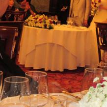 ゲストからみたメインテーブル