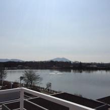 湖の先には筑波山も!