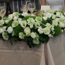 テーブル装花 プラン内