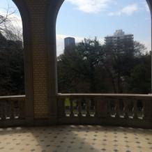 2階バルコニーからの眺め