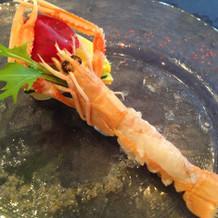 赤座海老のカルパッチョ