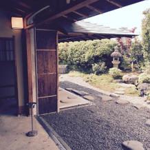 茶室のお庭