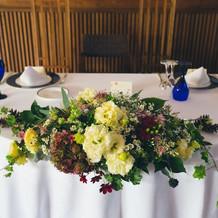 テーブルや装花も素敵でした
