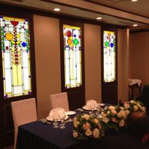 海の部屋のステンドグラス