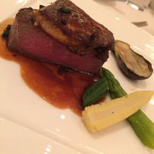 肉料理 牛フィレ肉のフォアグラのせ