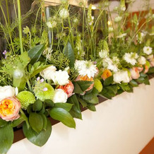 会場入口の装花