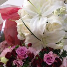 最後にお花もたくさんいただける