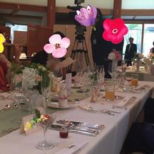 長テーブルでした。