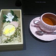 アップルティーとお茶菓子